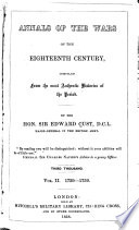 Annals of the Wars of the Eighteenth Century  1739 1759 Book