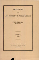 Proceedings of The Academy of Natural Sciences (Vol. C, 1948)