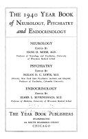 The Year Book of Neurology  Psychiatry  and Neurosurgery
