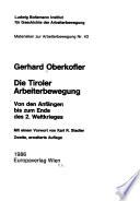 Die Tiroler Arbeiterbewegung