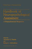 Pdf Handbook of Neuropsychological Assessment Telecharger