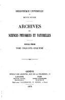 Bibliothèque universelle, revue suisse et étrangère