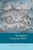 Rethinking Language Policy