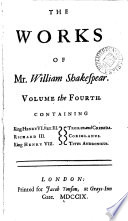 The Works of Mr. William Shakespear;