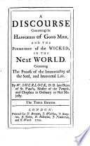 A Discourse Concerning the Happiness of Good Men