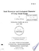 Sand Resources and Geological Character of Long Island Sound