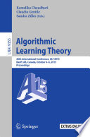 Algorithmic Learning Theory Book