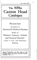 The Caxton Head Catalogue