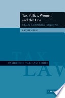 Tax Policy, Women and the Law  : UK and Comparative Perspectives