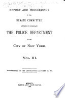 Report and Proceedings of the Investigation of the New York City Police