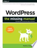 WordPress  The Missing Manual Book