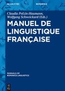 Pdf Manuel de linguistique française Telecharger