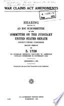 War Claims Act Amendments