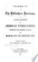 Bibliotheca Americana Mar 1858 Jan 1861