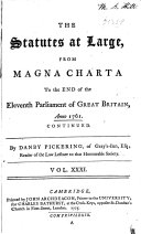 Statutes at Large       43 v       From Magna charta to 1800