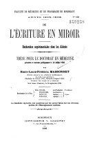 L' Ecriture en miroir