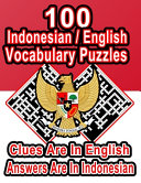 100 Indonesian/English Vocabulary Puzzles