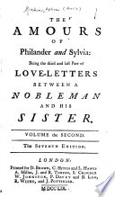 Love Letters Between A Nobleman And His Sister