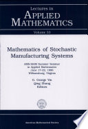 Mathematics Of Stochastic Manufacturing Systems Book PDF