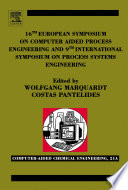 16th European Symposium on Computer Aided Process Engineering and 9th International Symposium on Process Systems Engineering Book