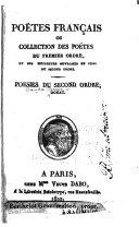 Poëtes français; ou, Collection des poëtes du premier ordre, et des meilleurs ouvrages en vers du second ordre ...: Dorat, C.J. [Oeuvres