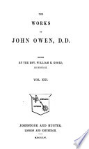 The Works of John Owen, D.D.: An exposition of the Epistle to the Hebrews, with preliminary exercitations