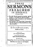 Three Sermons preached in severall places