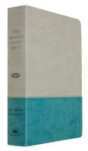 The Jeremiah Study Bible, NKJV: Gray/Teal Leatherluxe(r) W/Thumb Index: What It Says. What It Means. What It Means for You.