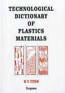 Technological Dictionary Of Plastics Materials Book PDF