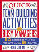 Quick Team Building Activities for Busy Managers