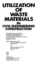 Utilization of Waste Materials in Civil Engineering Construction Book