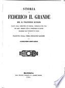 Storia di Federico il Grande, tradotta sulla 3. ed