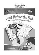 Just Before the Bell Pdf/ePub eBook