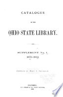 Catalogue of the Ohio State Library Book PDF