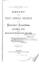 Report of the ... Annual Reunion of the Survivors' Association, 23d Penna. Vols Pdf/ePub eBook