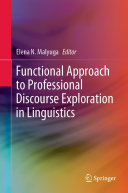 Functional Approach to Professional Discourse Exploration in Linguistics [Pdf/ePub] eBook