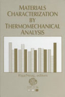 Materials Characterization by Thermomechanical Analysis