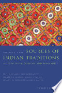 Sources of Indian Traditions Book