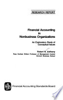 Financial Accounting in Nonbusiness Organizations