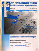 2004 Power Marketing Program for Sierra Nevada Customer Service Region  CA NV