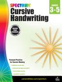Spectrum Cursive Handwriting, Grades 3 - 5 Pdf/ePub eBook