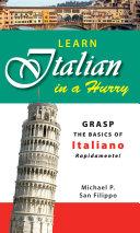 Learn Italian in a Hurry [Pdf/ePub] eBook