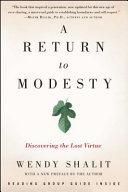 A Return to Modesty Book