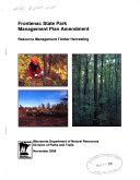 Frontenac State Park Management Plan Amendment