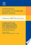 Conceptual Foundations of Materials Book