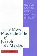Pdf More Moderate Side of Joseph de Maistre Telecharger