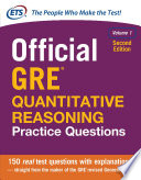 Official GRE Quantitative Reasoning Practice Questions, Volume 1, Second Edition  , Band 1