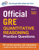 Official GRE Quantitative Reasoning Practice Questions, Second Edition