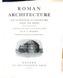 Roman Architecture and Its Principles of Construction Under the Empire