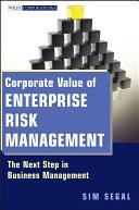 Corporate Value of Enterprise Risk Management